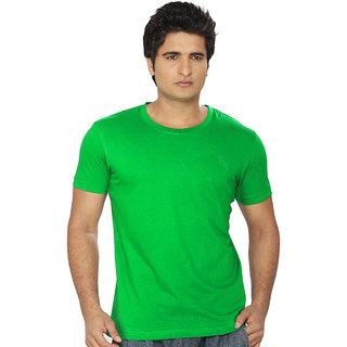 Lanosuc Mens Round Neck Pak Green Tees
