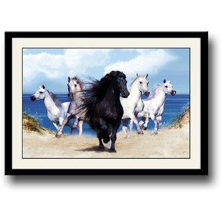 Running Horses Wallpaper Framed Wall Painting