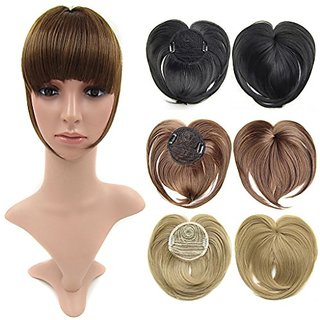 Beauty wig world medium brown front fringe clip in hair extensions beauty wig world medium brown front fringe clip in hair extensions one piece striaght fringe hairpiece accessories pmusecretfo Image collections