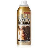 high beams Intense Temporary Spray on Hair Color, Gold Glitter, 2.7 Ounce