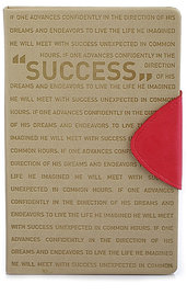 Doodle  Success Motivation Diary Notebook, PU Leather, Hard Cover, Ruled, 200 Pages, A5 (8.5