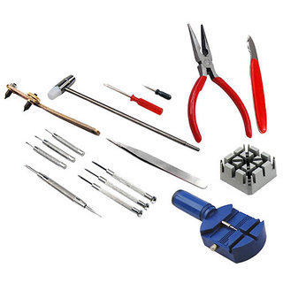 Works 1 Kit/Sets 16 Piece Watch Repair  Wrist Strap Adjust Tool Kitp