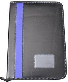 20 Flaps Portfolio File Folder Documents File In Assorted Blue Color Strip