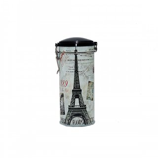 6th Dimensions Coffee Storage Tin Box With Lid Deco Clips Paris Multi Printed