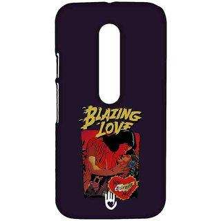 KR Blazing Love Purple - Sublime Case For Moto G Turbo