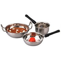 Stainless Steel Heavy Duty Cookware Combo Of 3