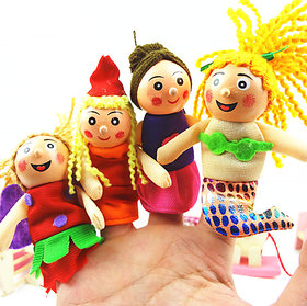 Finger Puppets Pretty Little Mermaid Toy Education Play Toy Hand Puppets 4 pcs.
