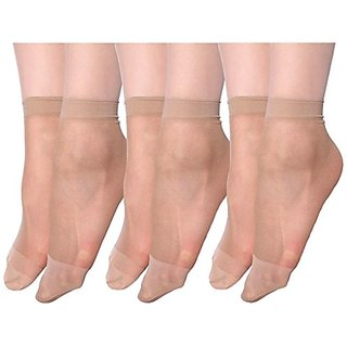 Transparent Nylon Summer Socks For Women (Pack of 3)