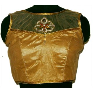 Stitched Gold brocade women blouse-045 SOFgnwb045