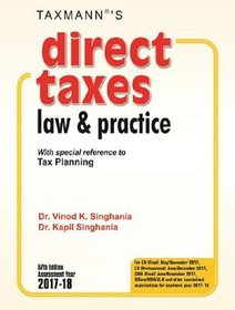 DIRECT TAXES LAW AND PRACTICE  (ENGLISH, Paperback, DR VINOD SINGHANIA)