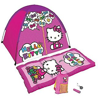 Hello Kitty 5 Piece Camp Kit with Sleeping Bag and Tent