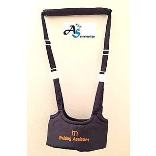 A&S Creavention® BabyWalker Baby Walking Protective Belt Carry Trooper Walking Harness Learning Assistant (Dark Blue)