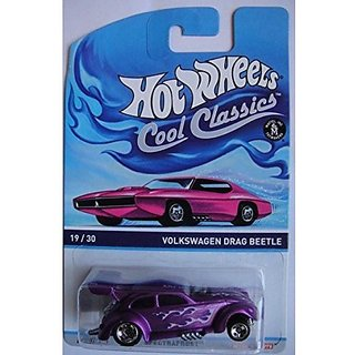 Hot Wheels Cool Classics Spectrafrost Purple Volkswagen Drag Beetle On Pink Card Car Version
