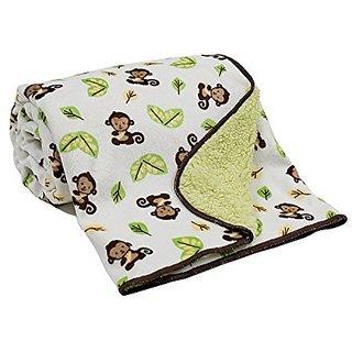 Bedtime Originals Curly Tails Velour/Sherpa Blanket