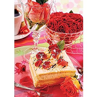Mega Puzzles Almond Cake 1000 Piece Jigsaw Puzzle, Confections Series.