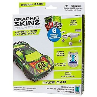 RoseArt Graphic Skinz Design Set (3-Piece), Race Car Toy