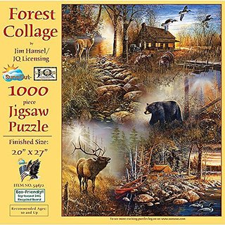 SunsOut Forest Collage Jigsaw Puzzle (1000-Piece)