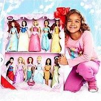 Disney Princess 11 Doll Deluxe Doll Gift Set 2014 Editi