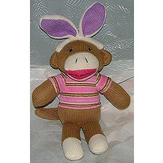 Sock Monkey. With Rabbit Ears