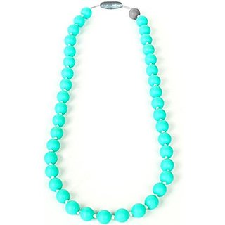 Itzy Ritzy Teething Happens Silicone Jewelry Baby Teething Necklace Bead, Turquoise