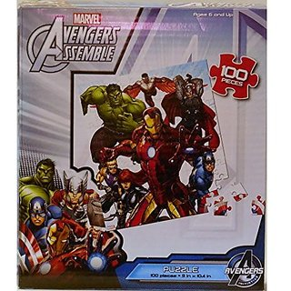 Marvel Avengers Assemble Jigsaw Puzzle 100 Pieces 7 Heroes