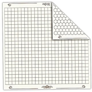 """26"""" X 26"""" Role Playing Reversible Vinyl Gaming Mat: Melee Mat With 1"""" Squares And Hexes By Wiz Dice"""