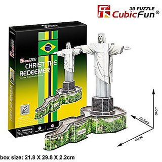 CubicFun 3D Puzzle 22 Pieces: Christ the Redeemer Brazil