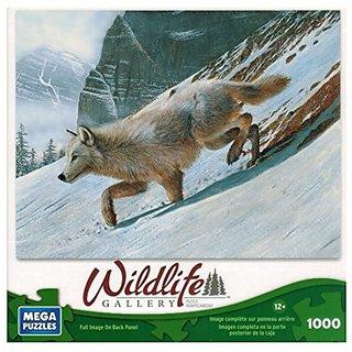 Mega Puzzles - Wildlife Gallery - Arctic Wolf - 1000 Pc