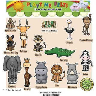 African Animals and Their Names Flannel Board Story Set