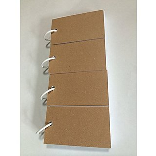 Mini Blank Flash Cards with Binder Ring - 2.0 X 3.5 Set of 4 Decks, 80 Cards Each (320 Cards)