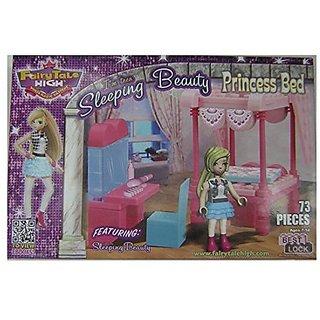 Sleeping Beauty Princess Bed Best Lock Building Block Set