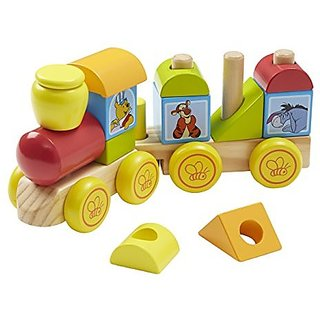 Disney Baby Winnie the Pooh Wooden Stacking Train