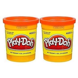PLAY-DOH Compound Orange - Two, 5 oz Cans (10 oz)