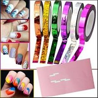 Buy Nail Art Chevron Zig Zag Striping Tape In 3 Different Colors