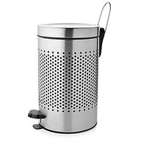 STEEL PERFORATED PEDAL DUSTBIN - 5 Litres