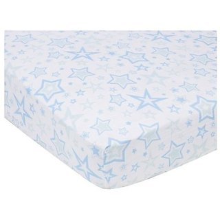 Miracle Blanket Stars Crib Sheet Color: Blue