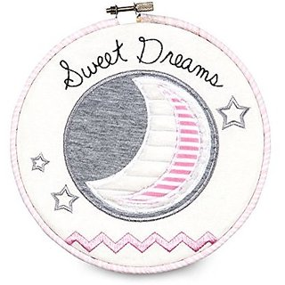 """Pavilion Gift Company Embroidered Wall Covering, 6-3/4"""", Sweet Dreams"""