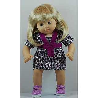 Checks Dress Outfit includes Shoes and fits 15 inch American Girl Dolls.
