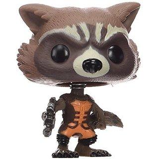 Funko Pop Marvel Guardians of the Galaxy Rocket Raccoon Vinyl BobbleHead Figure, Multi Color