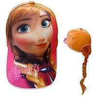 Disney Frozen Anna Baseball Cap With Ponytail