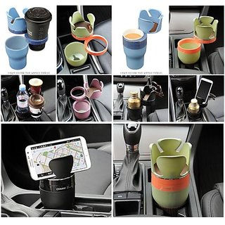 Multi Functional 5 in 1 Auto Cup Holder For Phone/Cup/Key/Coin/Card Storage