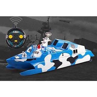 2.4Ghz Stealth Missile Model Boat Ocean Camouflage Battleship RC Catamaran Speed Marine Ship by Poco