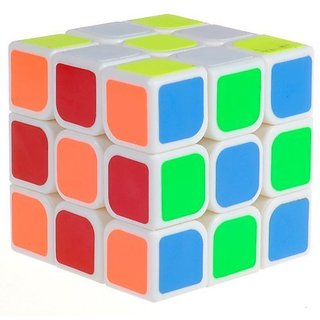 YJ 3x3 Magic cube Matte Stickers Speed Cube White (1 Piece)