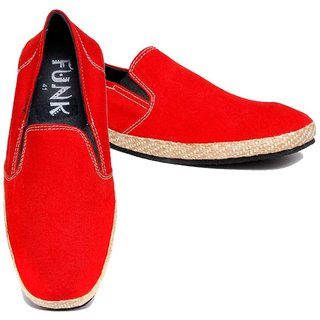 Funk Men's Red Slip On Canvas