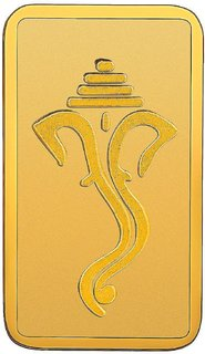 RSBL 2.5 grams 24k 999 Yellow Gold Ganpathi Precious Bar