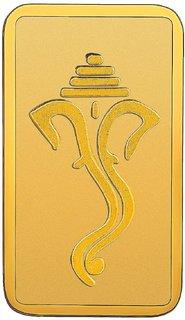 RSBL 2 grams 24k (999) Yellow Gold Ganpathi Precious Bar