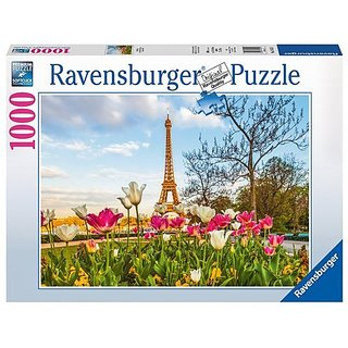 Ravensburger Puzzles Eiffel Tulips, Multi Color (1000 Pieces)