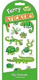 Peaceable Kingdom / Furry Green Animals Sticker Pack