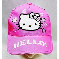 Baseball Cap - Hello Kitty - Pink Heart Pink Hat Kid Gi