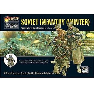 SOVIET WINTER INFANTRY PLASTIC BOX SET, 28mm Bolt Action Wargaming Miniatures
